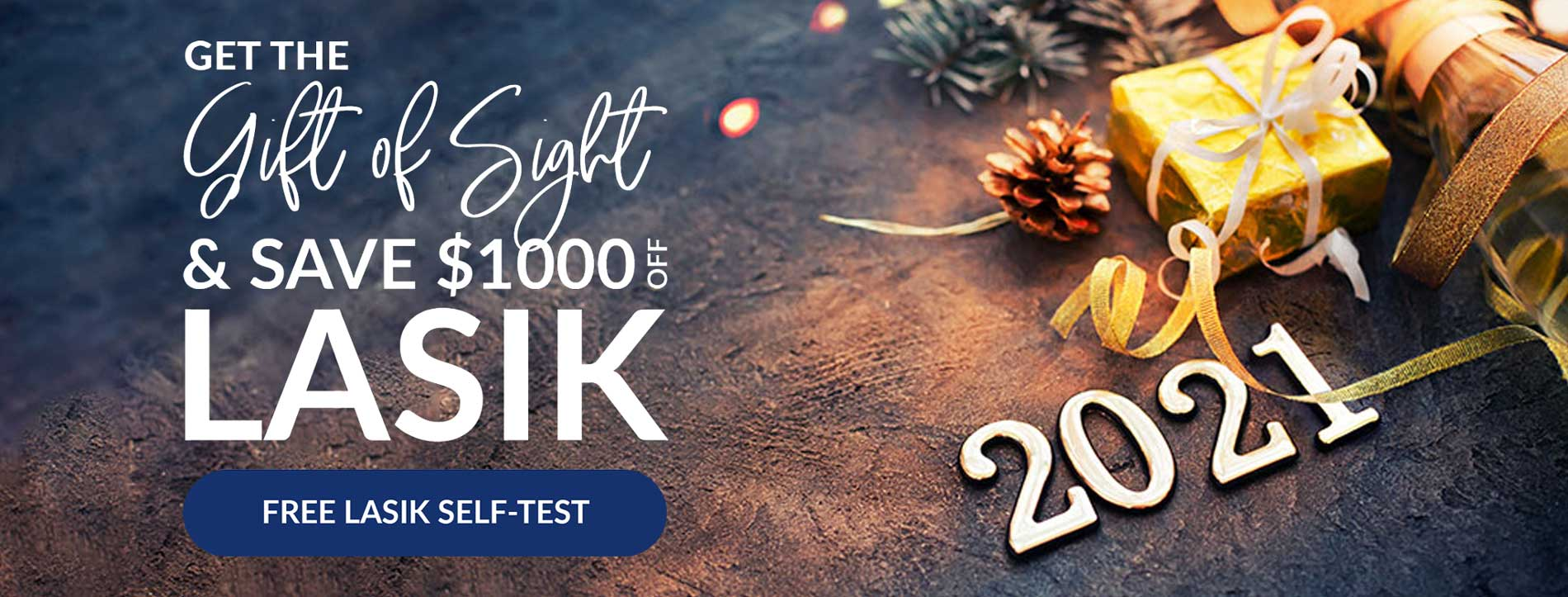 Get the gift of sight & save 1000 off LASIK