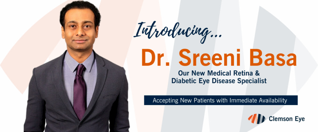 Dr. Basa is now part of Clemson Eye and seeing patients immedietly