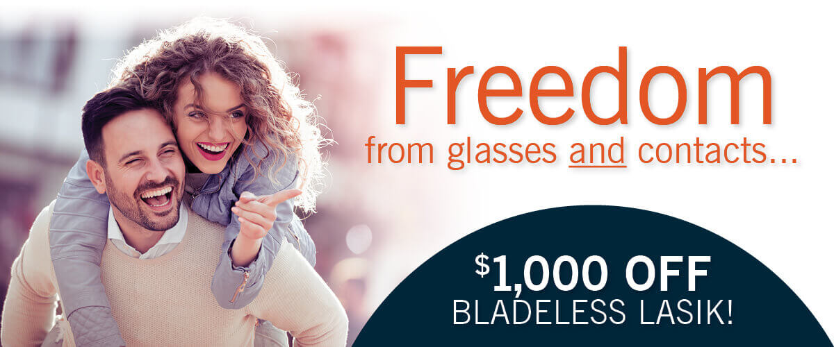 Freedom from glasses and contacts with bladeless LASIK!