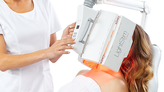 LED Light Therapy Procedure In Progress
