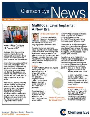 Multifocal Lens Implants: A New Era